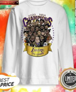 Top Good 2020 Nba Champions Los Angeles Lakers 17 Champs Cartoon Sweatshirt - Design By Agencetees.com