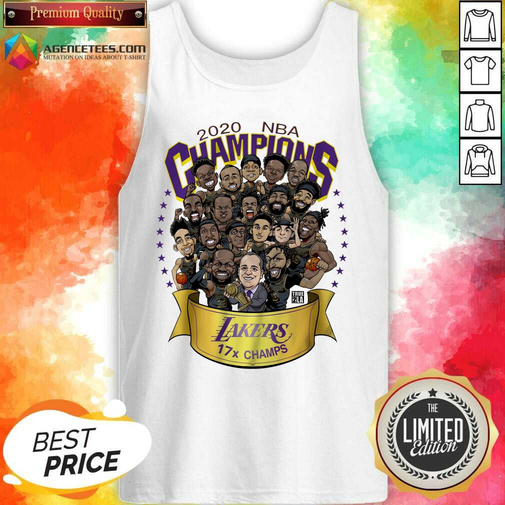 Top Good 2020 Nba Champions Los Angeles Lakers 17 Champs Cartoon Tank Top - Design By Agencetees.com