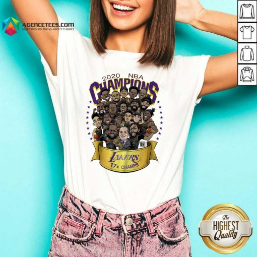 Top Good 2020 Nba Champions Los Angeles Lakers 17 Champs Cartoon V-neck - Design By Agencetees.com