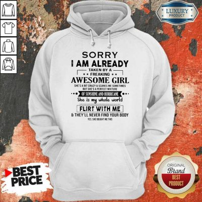 Annoyed I Am Awesome Girl Scares Me 1 Hoodie