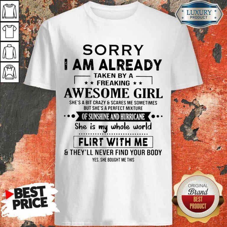 Annoyed I Am Awesome Girl Scares Me 1 Shirt