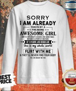 Annoyed I Am Awesome Girl Scares Me 1 Sweatshirt