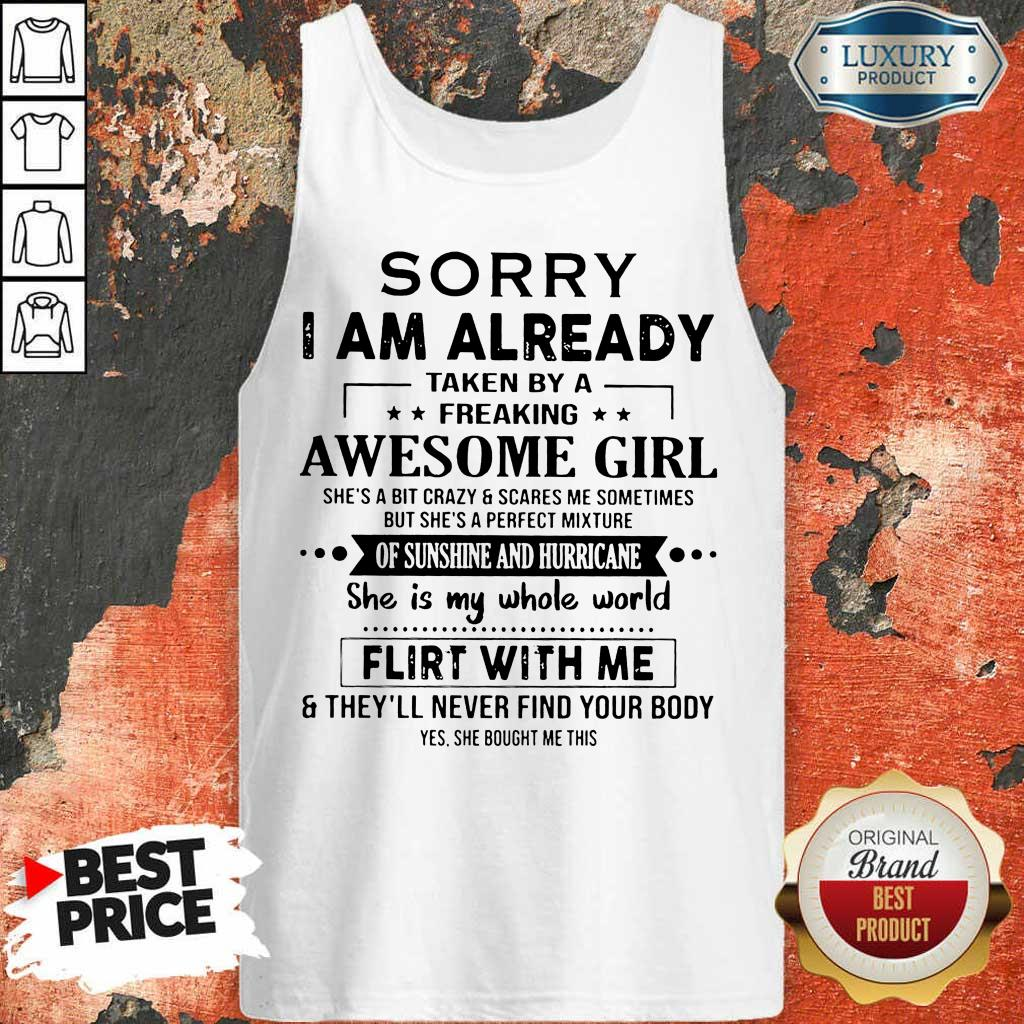 Annoyed I Am Awesome Girl Scares Me 1 Tank top