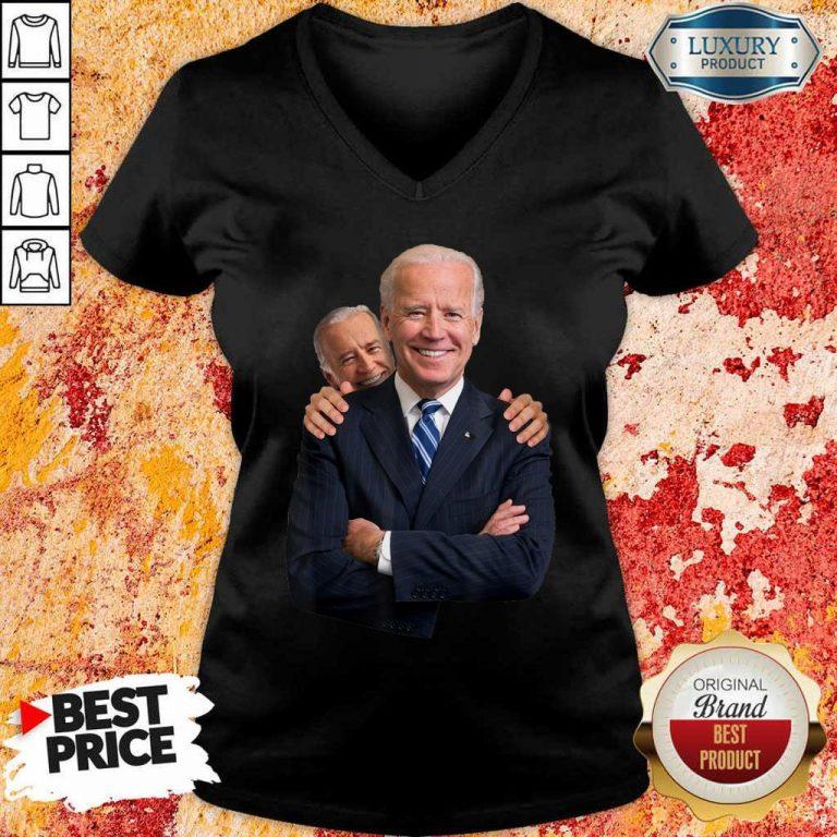 Annoyed Joe Biden Sniff 3 V-neck