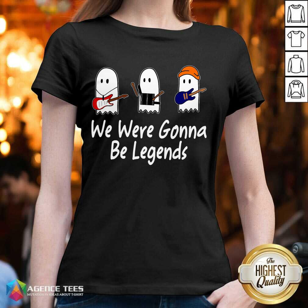 Awesome We Were Gonna Be Legends Julie And The Phantoms Ghost V-neck - Design By Agencetees.com