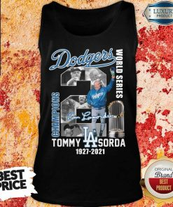 Confident LA Dodgers World Series Champions 2 Tommy Lasorda Tank Top - Design by Agencetees.com