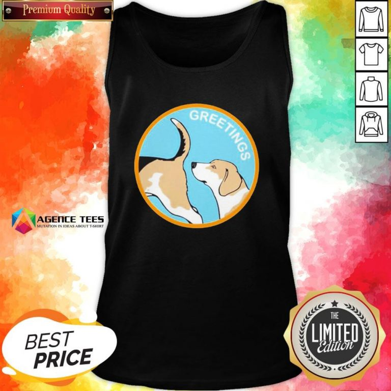 Cute Greetings Dog 2020 Tank Top - Design By Agencetees.com