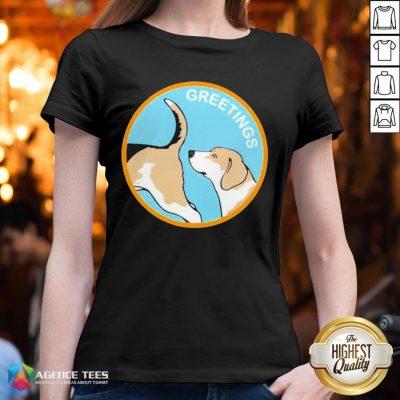 Cute Greetings Dog 2020 V-neck - Design By Agencetees.com
