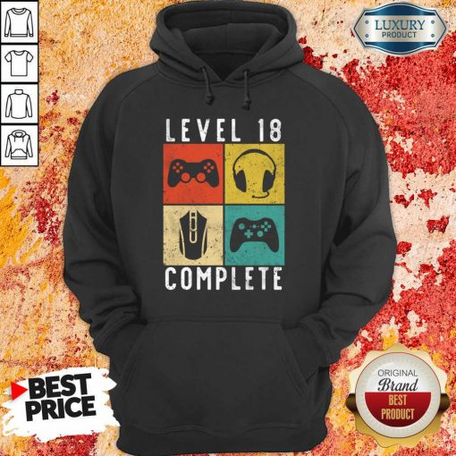 Emotional Level 18 Complete Gaming Hoodie - Design by Agencetees.com
