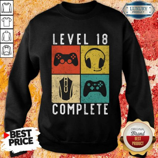 Emotional Level 18 Complete Gaming Sweatshirt - Design by Agencetees.com
