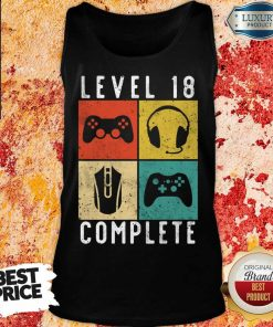 Emotional Level 18 Complete Gaming Tank Top - Design by Agencetees.com