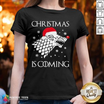Funny Game Of Thrones Christmas Is Coming V-neck - Design By Agencetees.com