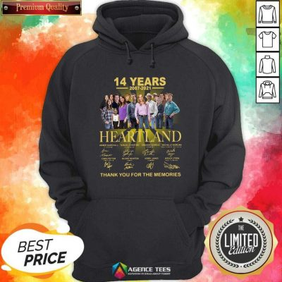 Good Heartland 14 Years 2007 2021 Thank You For The Memories Signatures Hoodie