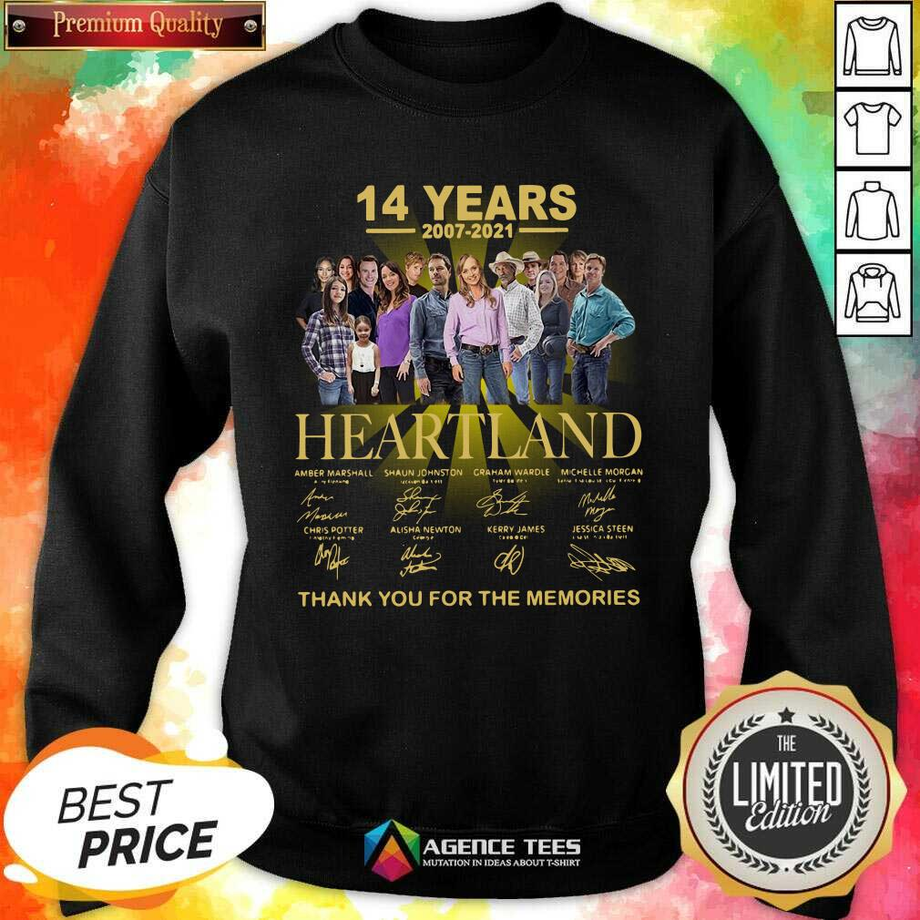 Good Heartland 14 Years 2007 2021 Thank You For The Memories Signatures Sweatshirt