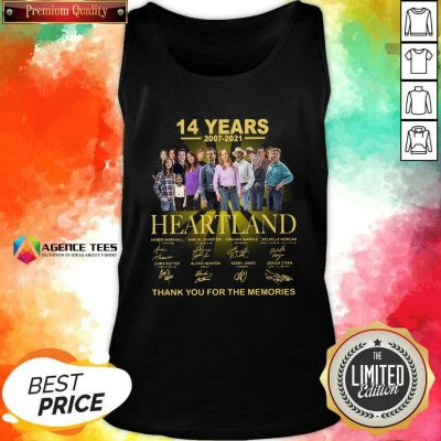 Good Heartland 14 Years 2007 2021 Thank You For The Memories Signatures Tank Top
