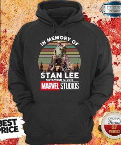 Happy Memory Of Stan Lee November 12 2018 Marvel Hoodie