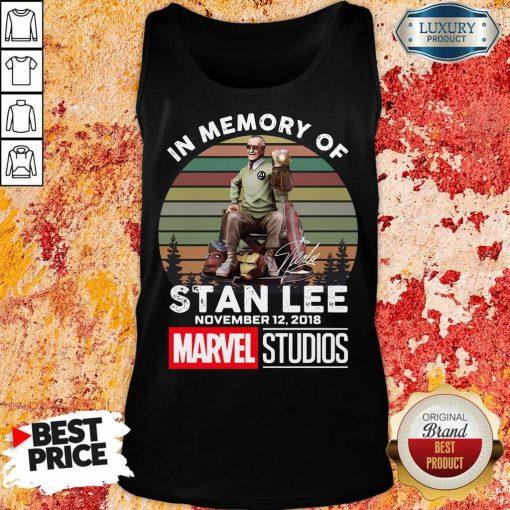 Happy Memory Of Stan Lee November 12 2018 Marvel Tank Top