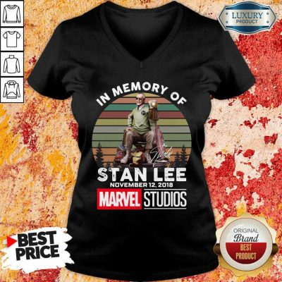 Happy Memory Of Stan Lee November 12 2018 Marvel V-neck
