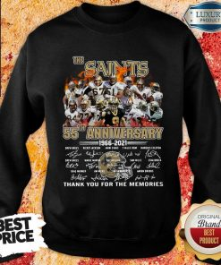 Happy The New Orland Saints 55th Anniversary 1966 2021 Sweatshirt