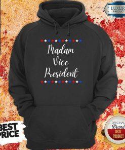 Intrigued Kamala Harris Madam Vice President 9 MVP Inauguration Hoodie - Design by Agencetees.com