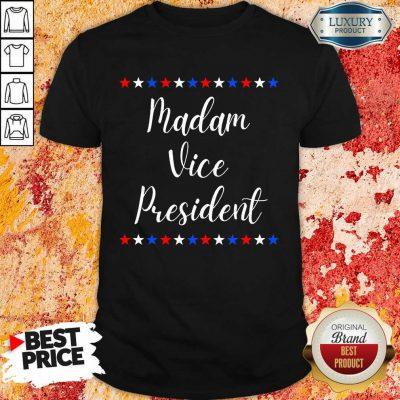 Intrigued Kamala Harris Madam Vice President 9 MVP Inauguration Shirt - Design by Agencetees.com