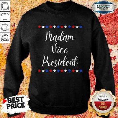 Intrigued Kamala Harris Madam Vice President 9 MVP Inauguration Sweatshirt - Design by Agencetees.com