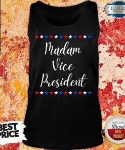 Intrigued Kamala Harris Madam Vice President 9 MVP Inauguration Tank Top - Design by Agencetees.com
