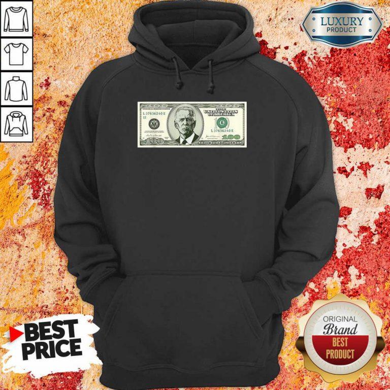Irritated Joe Biden On A 100 Dollars Hoodie - Design by Agencetees.com