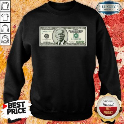 Irritated Joe Biden On A 100 Dollars Sweatshirt - Design by Agencetees.com