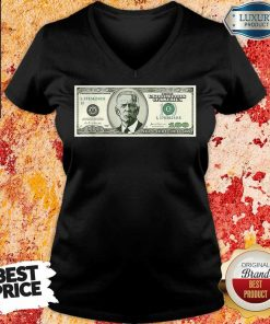 Irritated Joe Biden On A 100 Dollars V-neck - Design by Agencetees.com