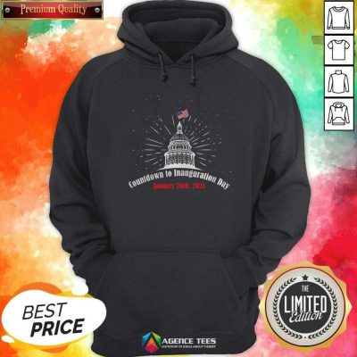 Official Countdown To Inauguration Day January 20th 2021 American Flag White House Hoodie - Design By Agencetees.com