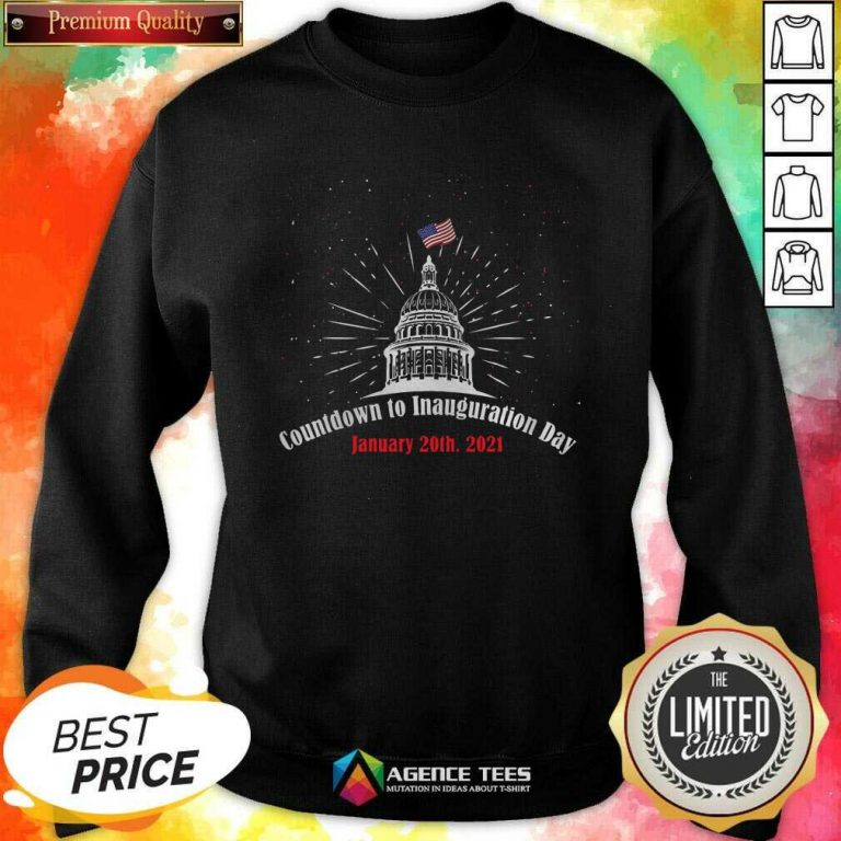 Official Countdown To Inauguration Day January 20th 2021 American Flag White House Sweatshirt - Design By Agencetees.com