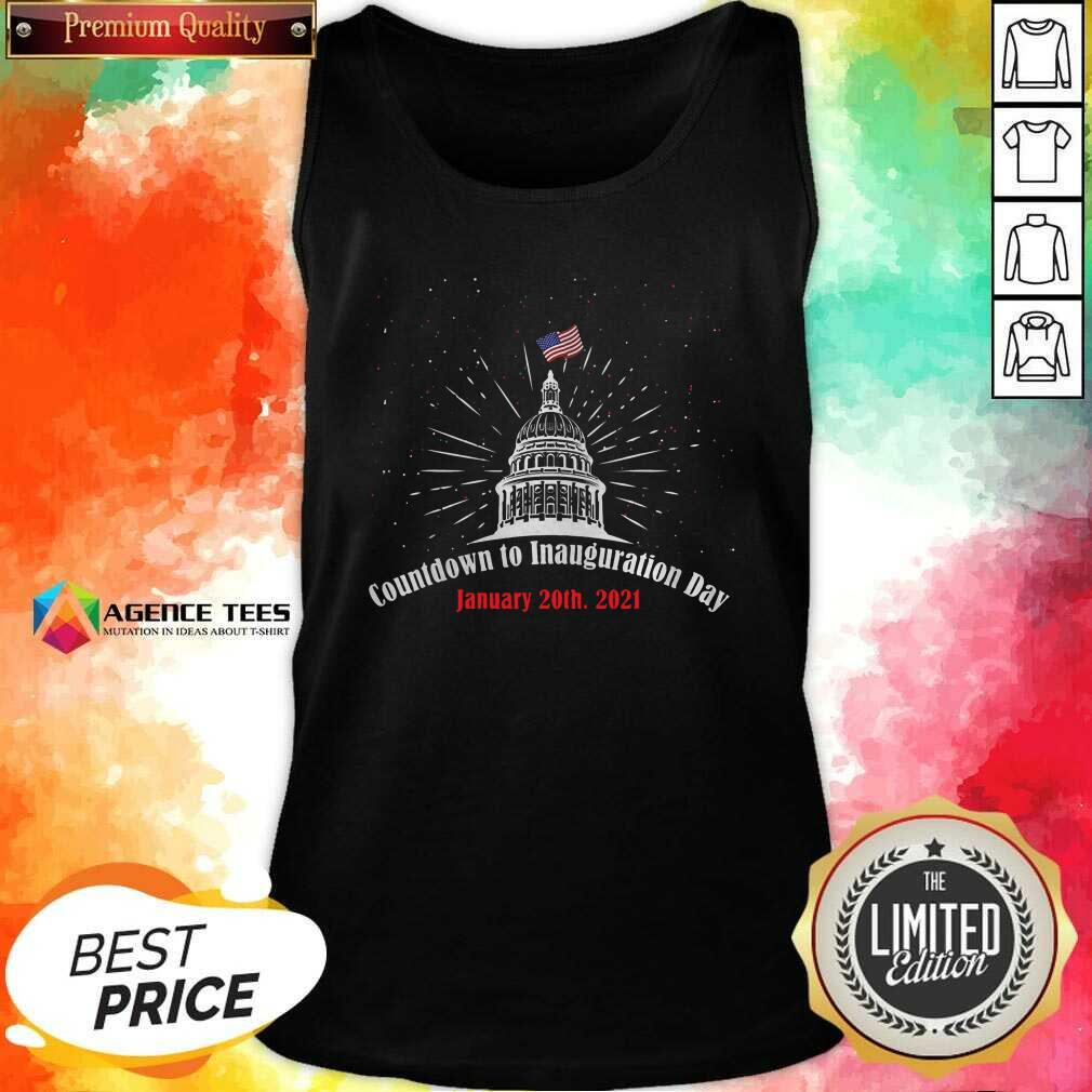 Official Countdown To Inauguration Day January 20th 2021 American Flag White House Tank Top - Design By Agencetees.com