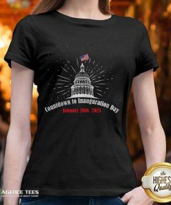 Official Countdown To Inauguration Day January 20th 2021 American Flag White House V-neck - Design By Agencetees.com