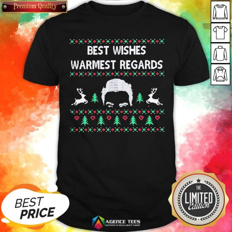 Premium David Rose Best Wishes Warmest Regards Ugly Christmas Shirt - Design By Agencetees.com