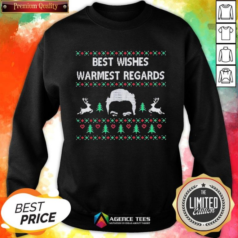 Premium David Rose Best Wishes Warmest Regards Ugly Christmas Sweatshirt - Design By Agencetees.com