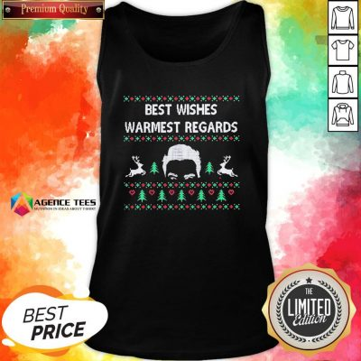 Premium David Rose Best Wishes Warmest Regards Ugly Christmas Tank Top - Design By Agencetees.com
