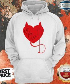 Surprised Satan Heart 4 Valentine Hoodie - Design by Agencetees.com
