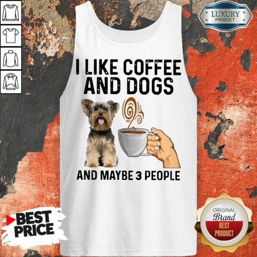 Surprised Yorkshire Coffee And Dogs And Maybe 3 People Tank Top