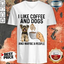 Surprised Yorkshire Coffee And Dogs And Maybe 3 People V-neck