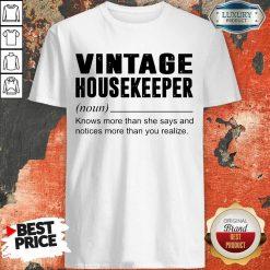 Terrific Vintage Housekeeper Noun Knows 5 Shirt