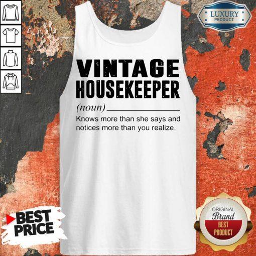 Terrific Vintage Housekeeper Noun Knows 5 Tank Top