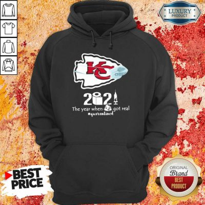 Wonderful Kansas City Chiefs Face Mask 2021 Toilet Paper Quarantined Hoodie - Design by Agencetees.com