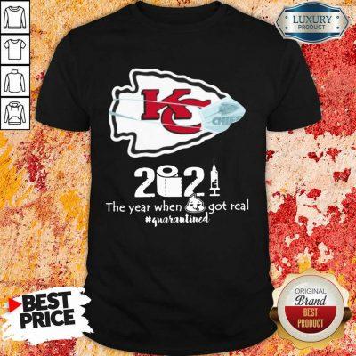 Wonderful Kansas City Chiefs Face Mask 2021 Toilet Paper Quarantined Shirt - Design by Agencetees.com