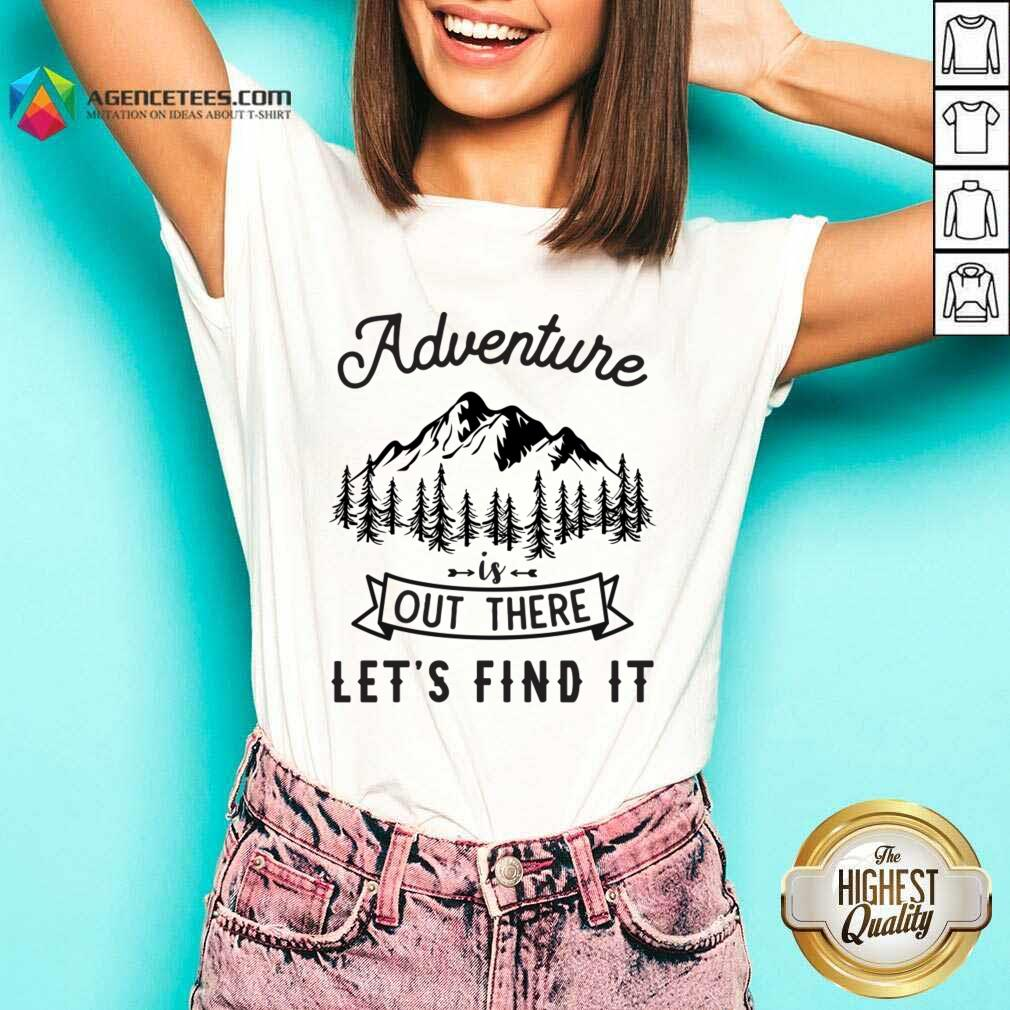 Adventure Is Out There 5 Find It V-neck - Design by Agencetees.com
