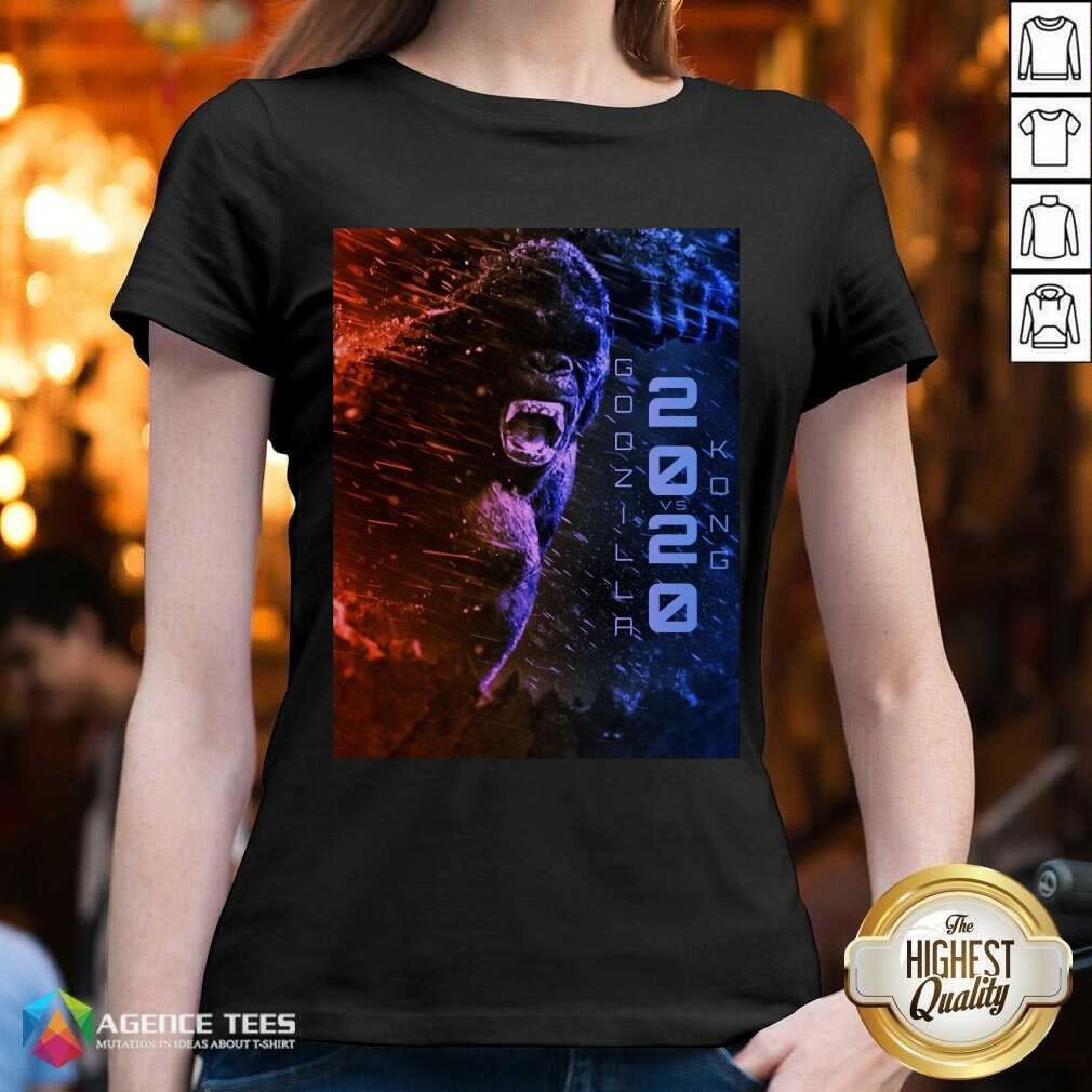 Attractive Filtrados Juguetes Ve Godzilla Vs Kong 2021 V-neck - Design by Agencetees.com