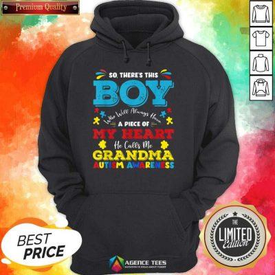 Boy Calls Me Grandma 9 Autism Awareness Hoodie - Design by Agencetees.com