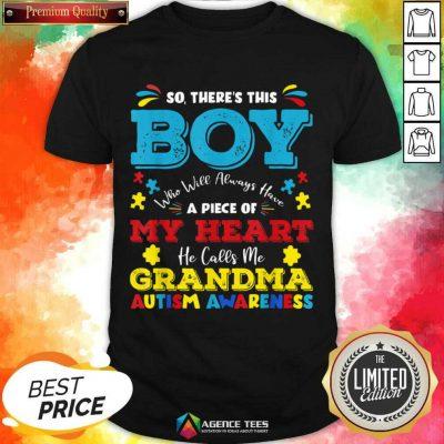 Boy Calls Me Grandma 9 Autism Awareness Shirt - Design by Agencetees.com
