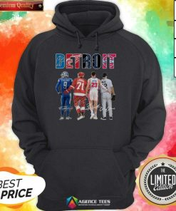Detroit 4 Stafford Larkin Griffin Mize Signatures Hoodie - Design by Agencetees.com