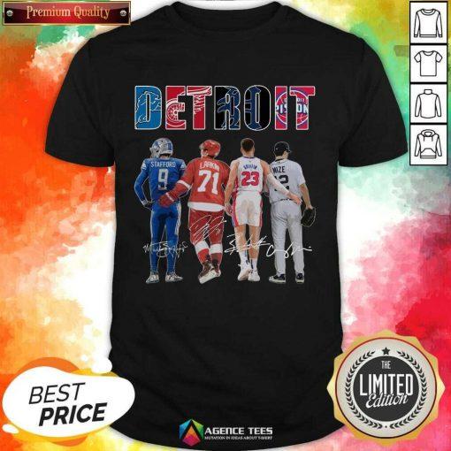 Detroit 4 Stafford Larkin Griffin Mize Signatures Shirt - Design by Agencetees.com